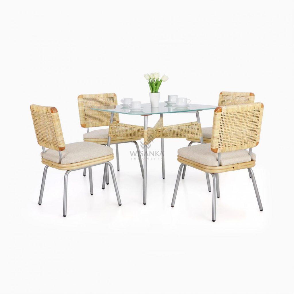 Kaira Dining Set - Natural Rattan Furniture
