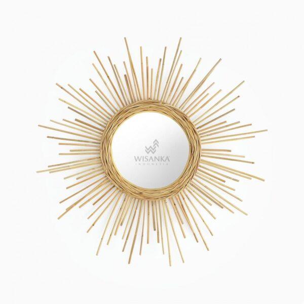 Shine Rattan Mirror - Natural Rattan Furniture