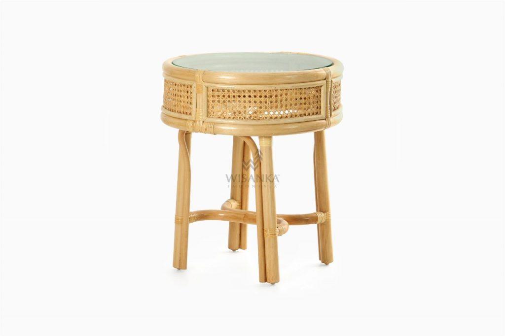 Lerida Side Table - Natural Rattan Furniture