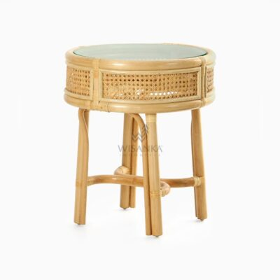 Lerida Side Table - Natural Rattan Furniture