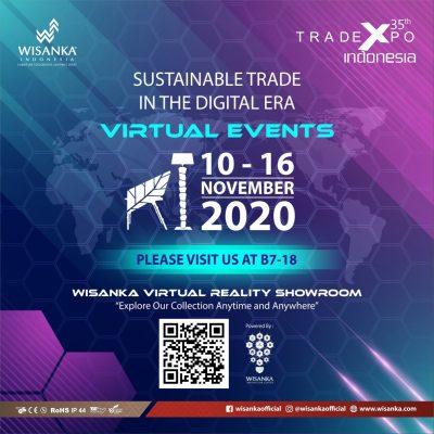 Rattan Furniture as Wisanka in Virtual Trade Expo Indonesia 2020