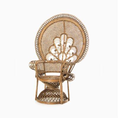 Saleema Peacock Chair - Natural Rattan Furniture