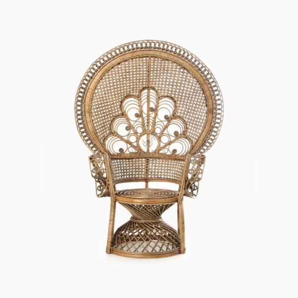 Saleema Peacock Chair - Natural Rattan Furniture front