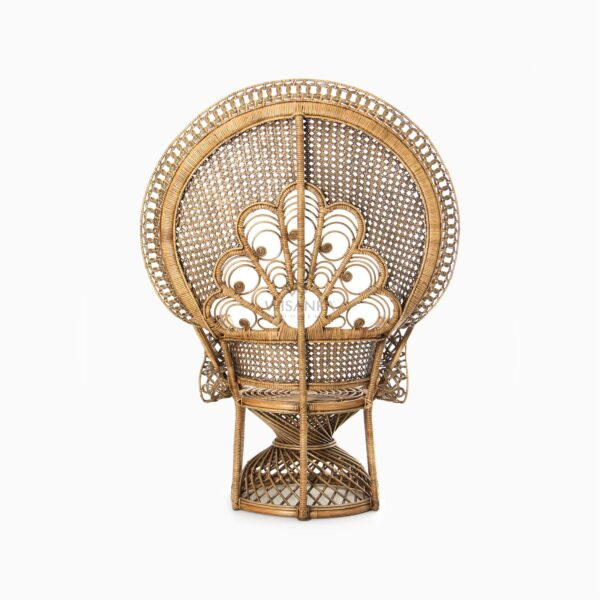 Saleema Peacock Chair - Natural Rattan Furniture rear