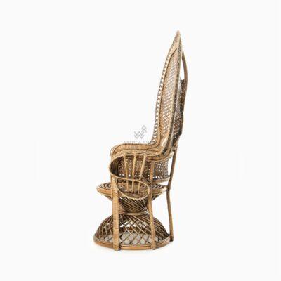Saleema Peacock Chair - Natural Rattan Furniture side