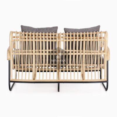 Akko 2 Seater - Living Natural Rattan Furniture rear