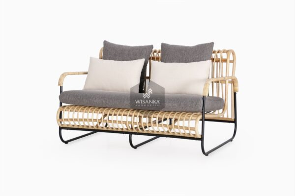 Akko 2 Seater - Natural Rattan Furniture
