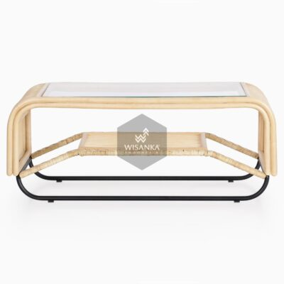 Akko Coffee Table - Natural Rattan Furniture front