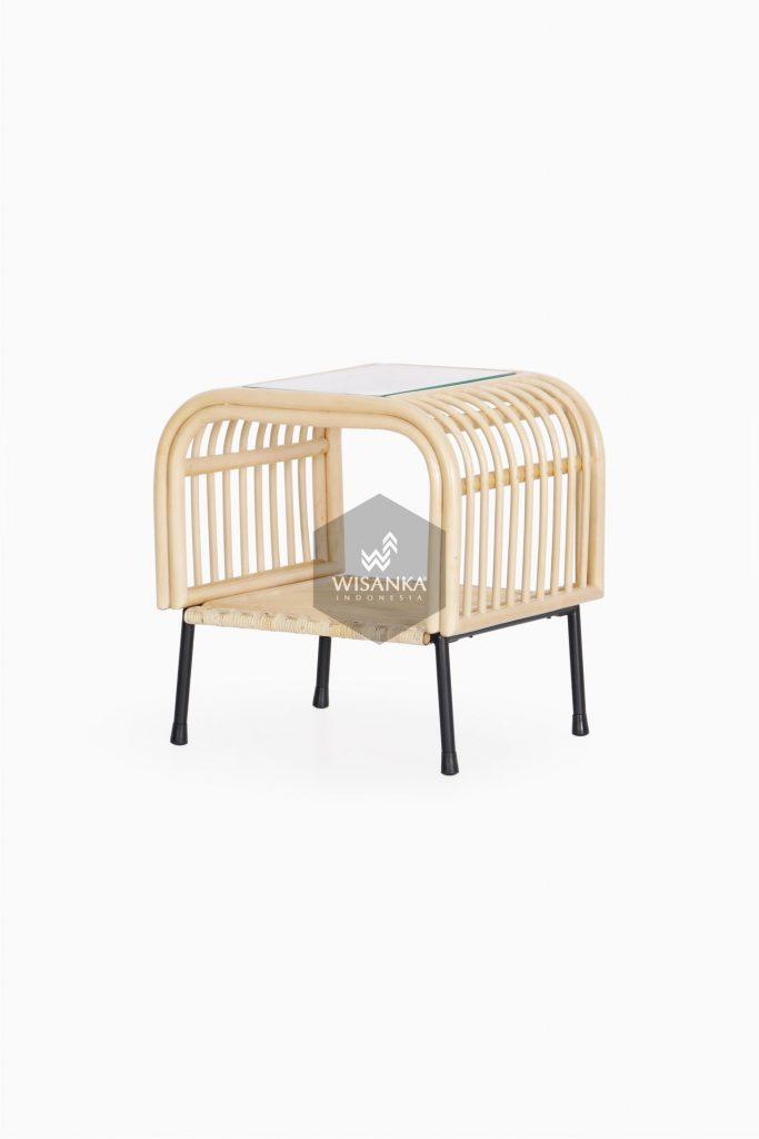 Akko Side Table - Natural Rattan Furniture