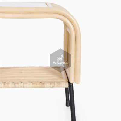 Akko Side Table - Natural Rattan Furniture detail 1